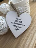 Shabby Personalised Chic Heart Plaque ~ Friend ~ Humour ~ Birthday Present Gift